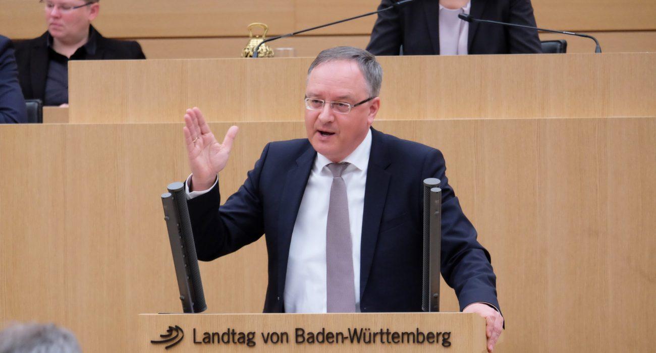 Andreas Stoch im Landtag von Baden-Württemberg zum Coronavirus